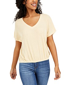 Juniors' V-Neck Top