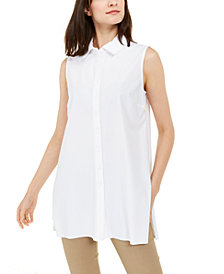 Alfani Sleeveless Knit Button-Front Tunic, Created for Macy's