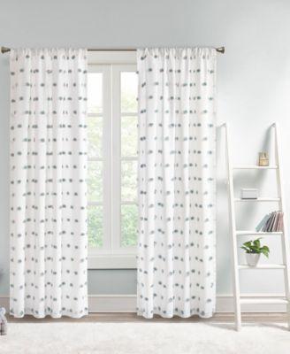 """Sophie 50"""" x 84"""" Pom Pom Embellished Curtain Panel"""