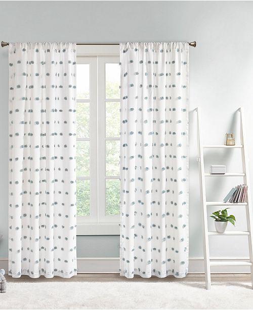 """Intelligent Design Sophie 50"""" x 84"""" Pom Pom Embellished Curtain Panel"""