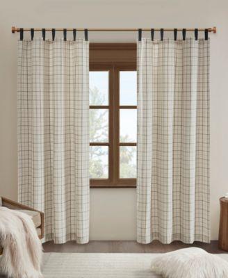 Anaheim Plaid Rod Pocket and Back Tab Window Panel with Fleece Lining 50