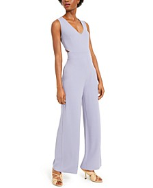 V-Neck Cut-Out Crepe Jumpsuit, Created for Macy's