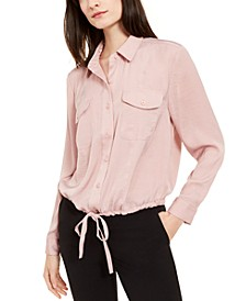 Button-Front Tie-Hem Top, Created for Macy's