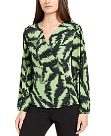 Surplice-Neck Printed Top, Created for Macy's