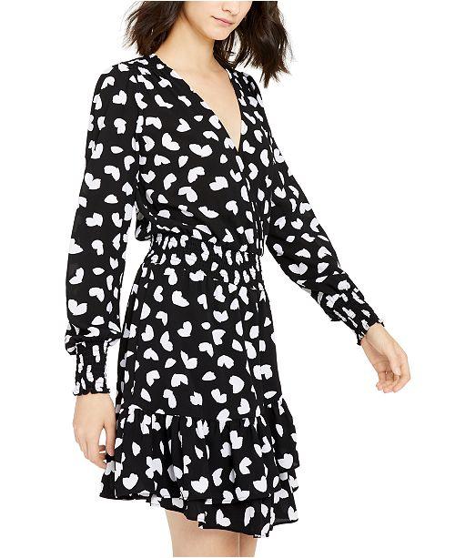 Petal-Print Ruffled A-Line Dress, Created For Macy\'s