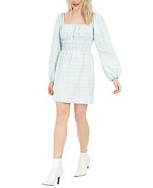 Gingham Smocked Mini Dress