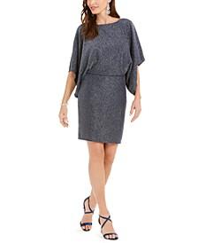 Metallic Shimmer Blouson Dress