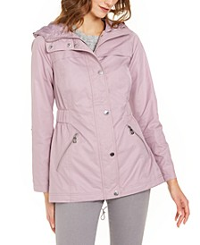 Adjustable-Waist Hooded Anorak