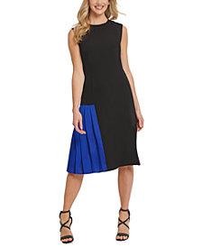 DKNY Sleeveless Pleated Dress