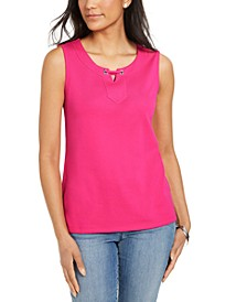 Grommet-Trim Tank Top, Created for Macy's