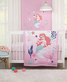 The Little Mermaid 3-Piece Crib Bedding Set