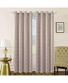 "Amelia Embroidery Room Darkening Curtain, 95"" L x 50"" W"