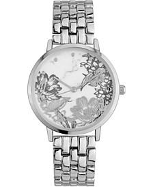 INC Women's Silver-Tone Bracelet Watch 35mm, Created for Macy's