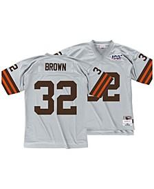 Men's Jim Brown Cleveland Browns 100 Year Platinum Jersey