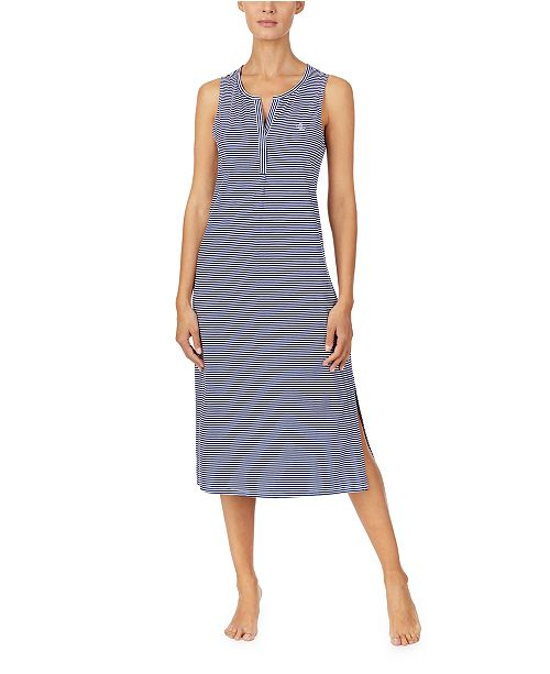 Lauren Ralph Lauren Striped Knit Ballet Nightgown
