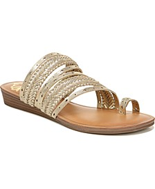 Tatum Toe Thong Wedge Sandals