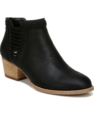 Classic bootie styling with side strapping details for a pop of attitude.