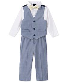 Baby Boys 4-Pc. Glen Plaid Vest Set