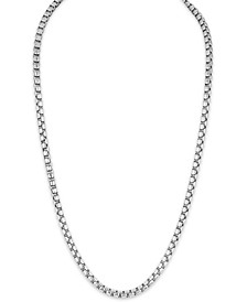 """Men's Box Chain (8mm) 22"""" Necklace in Sterling Silver"""