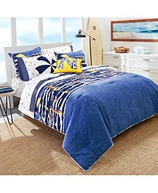 Kids Surf the Waves 2-Piece Twin Comforter Set