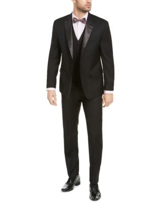Men's Classic-Fit UltraFlex Stretch Black Peak Lapel Tuxedo Jacket