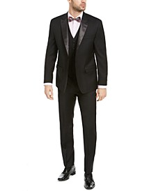 Men's Classic-Fit UltraFlex Stretch Black Solid Tuxedo Separates