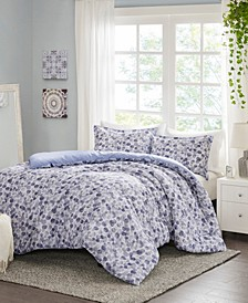 Nells 3-Piece King/Cal King Printed Duvet Cover Set