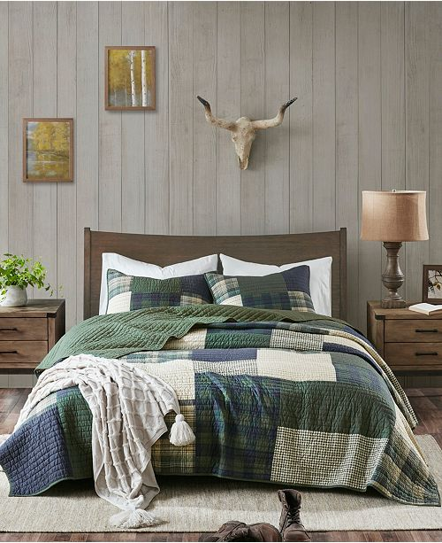 Woolrich Mill Creek 3 Piece Full/Queen Oversized Cotton Quilt Set
