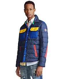 폴로 랄프로렌 Polo Ralph Lauren Mens Color-Blocked Down Jacket,Multi