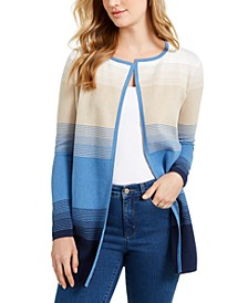 Petite Striped Cotton Milano Cardigan, Created for Macy's