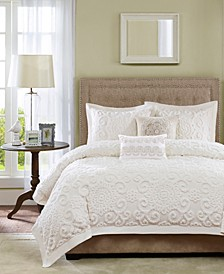 Suzanna Ivory 3-Pc. Full/Queen Comforter Mini Set