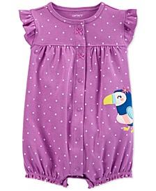 Baby Girls Dot-Print Toucan Cotton Romper