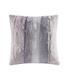 "Zuri Faux-Fur 20"" Square Decorative Pillow"