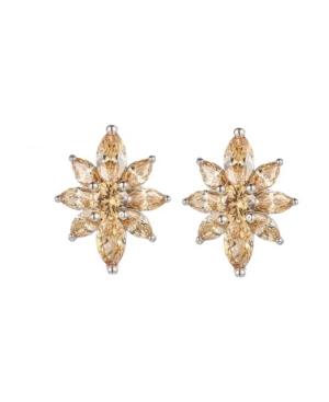 pagne Flower Cluster Earrings