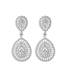 Silver-Tone Accent Big Disc Earrings