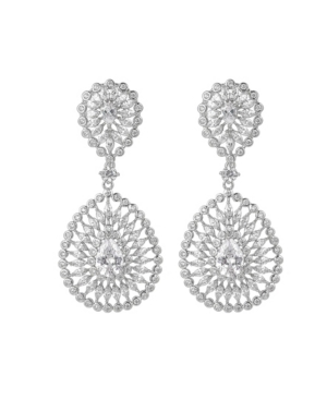 A & M Silver-Tone Accent Big Disc Earrings