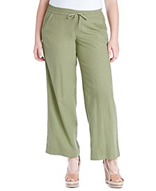 Trendy Plus Size Nara Pull-On Linen Pants
