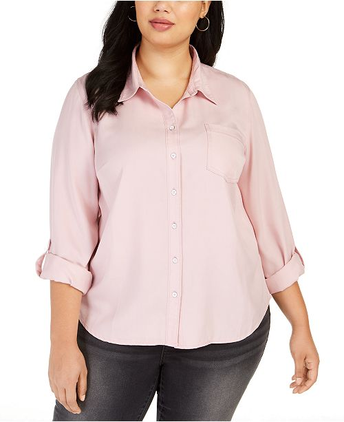 Style & Co Plus Size Button-Down Shirt, Created for Macy's