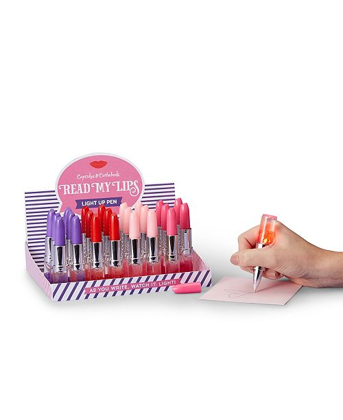 Celebrate Shop Two's Company Read My Lips 48 Pc Light Up Glitter Lipstick Pen
