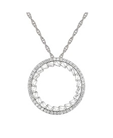 Round Diamond (1/2 ct. t.w.) Necklace in 14k White or Rose Gold