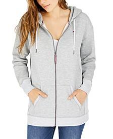 Front-Zip Logo Hoodie