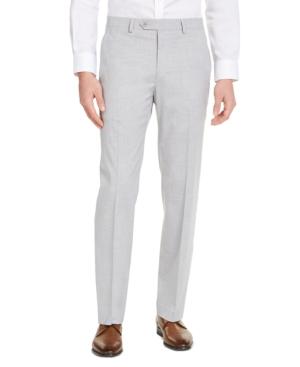 Men's Slim-Fit Stretch Solid Suit Pants