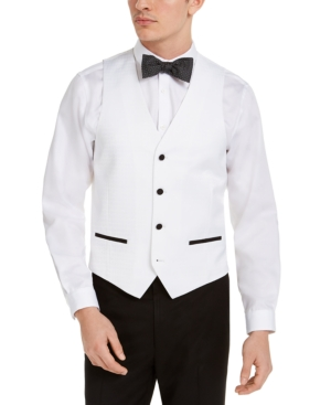 Men's Slim-Fit Stretch Black Tuxedo Vest