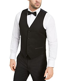 Men's Slim-Fit Stretch Black Tuxedo Vest, Created for Macy's