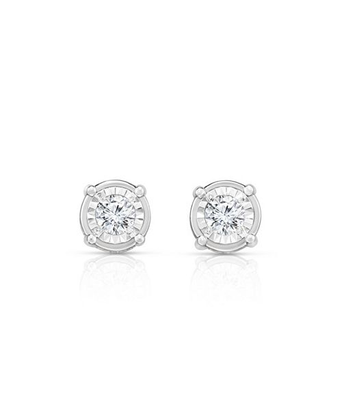 TruMiracle Diamond (3/4  ct. t.w.) Stud Earrings in 14k White Gold
