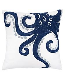"""Octopus Beach 20"""" x 20"""" Outdoor Decorative Pillow"""