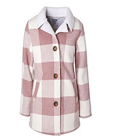 Little Girl Plaid Faux Wool Jacket