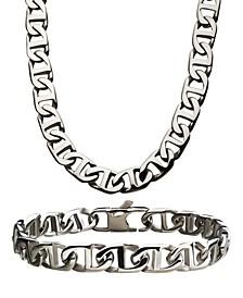 """Mariner Link 8"""" Bracelet and 22"""" Necklace Set"""