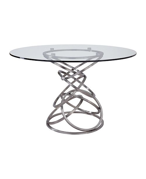 Armen Living Wendy Glass Dining Table