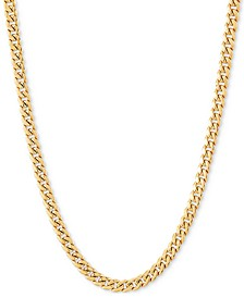 "Miami Cuban 18"" Chain Necklace (3mm) in 14k Gold"
